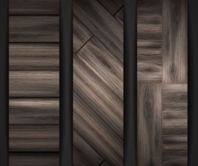 Woodboard texture banners vector set 04