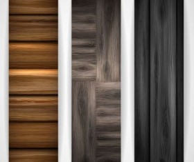 Woodboard texture banners vector set 05