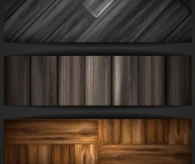 Woodboard texture banners vector set 07