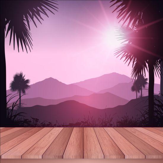 vector scenery tropical - photo #13