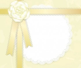 Yellow lace card vector