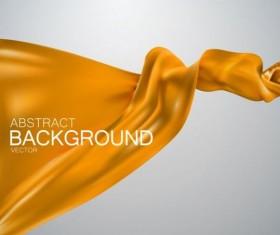 Yellow silk fabric background vector