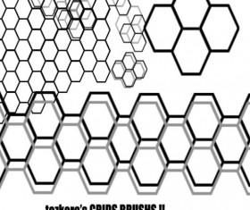 hexagon photoshop brush