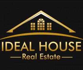 ideal house logo vector