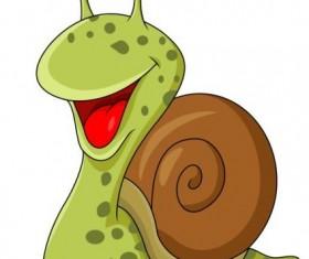 lovely cartoon snails vector 04