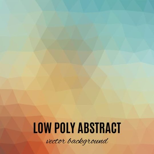 low poly abstract background vectors material 01