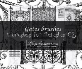 11 Kind Gates Photoshop Brushes set
