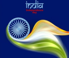 15th autught Indian Independence Day background vector 15