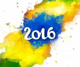2016 rio de Janeiro olympic watercolor background 02