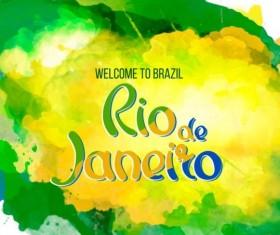 2016 rio de Janeiro olympic watercolor background 03