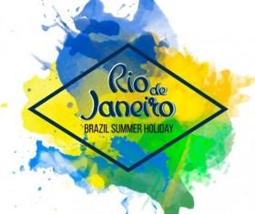 2016 rio de Janeiro olympic watercolor background 04
