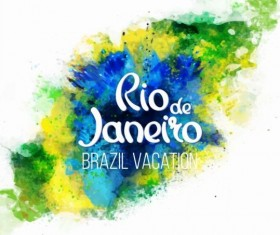 2016 rio de Janeiro olympic watercolor background 05