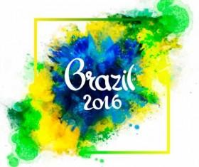 2016 rio de Janeiro olympic watercolor background 07