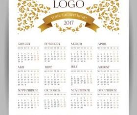 2017 company calendars template vector 01