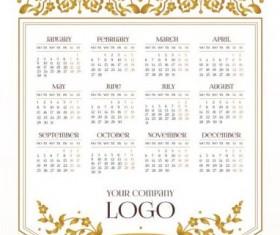 2017 company calendars template vector 02