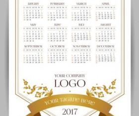 2017 company calendars template vector 03