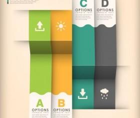 3d modern options Infographics elements vector 04