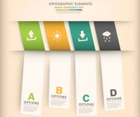3d modern options Infographics elements vector 05