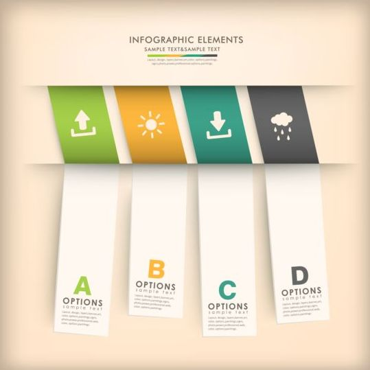 3d modern options Infographics elements vector 05