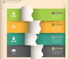 3d modern options Infographics elements vector 06