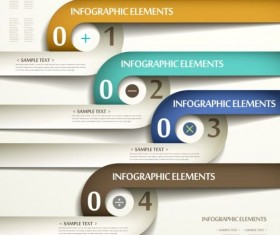 3d modern options Infographics elements vector 07