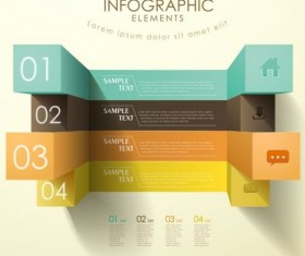 3d modern options Infographics elements vector 08
