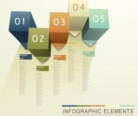 3d modern options Infographics elements vector 09