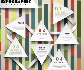 Abstract 3D Infographics design vector 08