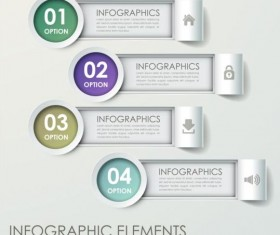 Abstract 3D Infographics design vector 09