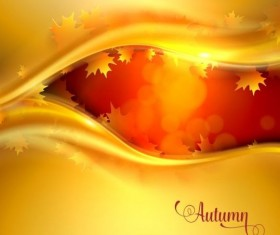 Abstract autumn background shiny vector 03