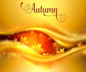 Abstract autumn background shiny vector 04