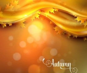 Abstract autumn background shiny vector 05