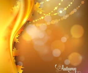 Abstract autumn background shiny vector 06
