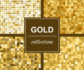 Abstract gold backgroun art vector set 03