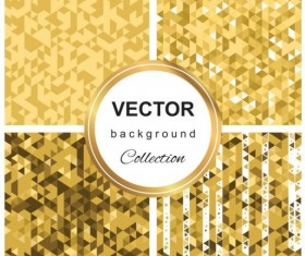Abstract gold backgroun art vector set 04