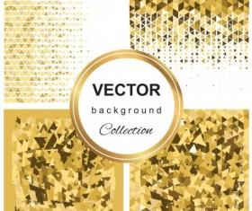 Abstract gold backgroun art vector set 05