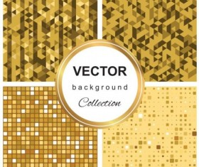 Abstract gold backgroun art vector set 06
