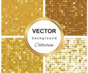 Abstract gold backgroun art vector set 07