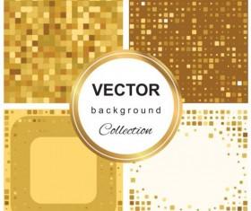 Abstract gold backgroun art vector set 08
