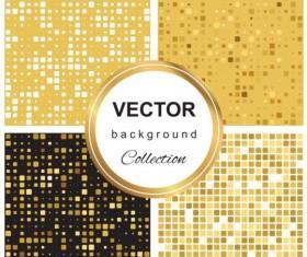 Abstract gold backgroun art vector set 09