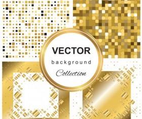Abstract gold backgroun art vector set 10