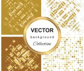 Abstract gold backgroun art vector set 11