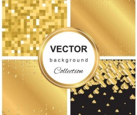 Abstract gold backgroun art vector set 12
