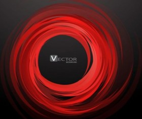 Abstract swirl red background vector
