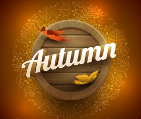 Autumn leaf line frames vector 01