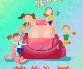 Back to school and sale background vector design 03