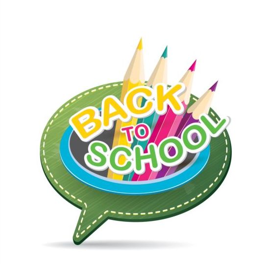 Back to school speech bubble vector material 04