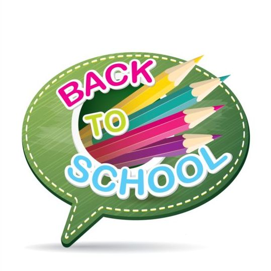 Back to school speech bubble vector material 19