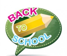 Back to school speech bubble vector material 20