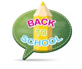 Back to school speech bubble vector material 21